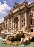 Trevi Fontanna Rzym Włochy Fotografia Royalty Free
