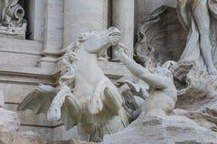 Trevi fontanna Rzym, Włochy Obrazy Royalty Free