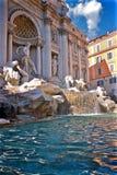 Trevi Fontein en Pool in Rome Italië Royalty-vrije Stock Fotografie