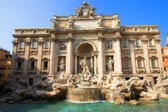 Trevi fontein in Rome Stock Afbeeldingen
