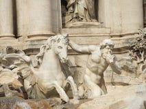 Trevi Fontein Rome Stock Foto's
