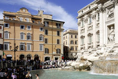 Trevi Fontein in Rome Stock Afbeelding