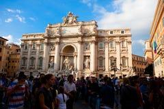 Trevi fontein in Rome, Italië Royalty-vrije Stock Afbeelding