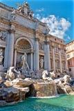 Trevi Fontein in Rome Italië Royalty-vrije Stock Afbeeldingen