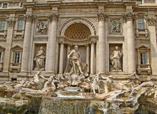 Trevi Fountain 01 Royalty Free Stock Images