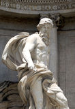 Trevi Fountain. Neptune in the Trevi Fountain Stock Photography