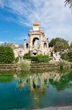 Trevi fountain. Barcelona's Trevi Fountain in the Parc de la Ciutadella Royalty Free Stock Photography