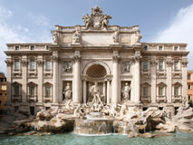 The Trevi Fountain Royalty Free Stock Images