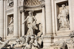 Trevi fountain. One of the most famous fountains in the world. Here, was the setting for an iconic scene in Federico Fellini's film La dolce vita. And a Royalty Free Stock Images