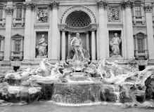 Trevi fountain stock photo