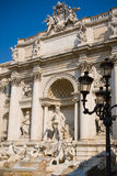 The Trevi Fountain. Or Fontana di Trevi is the largest and most famous fountain in Rome Stock Image
