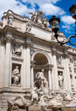 The Trevi Fountain. Or Fontana di Trevi is the largest and most famous fountain in Rome Royalty Free Stock Photos