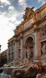 The Trevi Fountain. Is the largest and most ambitious of the Baroque fountains of Rome. Italy royalty free stock photos