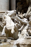 Trevi Fountain. A Triton and Seahorse in the Trevi Fountain in Rome Stock Photography