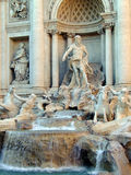 Trevi fountain. Central view Royalty Free Stock Photos