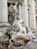 Trevi fountain. Central view Stock Photo