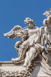 Trevi Fountain, the Baroque fountain in Rome, Italy. Stock Image