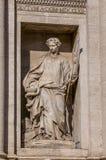 Trevi Fountain, the Baroque fountain in Rome, Italy. Stock Photos