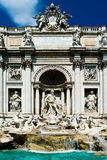 Trevi fountain in the city of Rome. Famous Trevi fountain in the city of Rome Royalty Free Stock Image