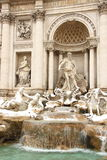 The Trevi Fountain covered by snow. A really rare event in Rome Royalty Free Stock Photos