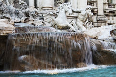 Trevi fountain detail stock photo