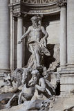 Trevi Fountain, detail Stock Images