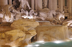 Trevi fountain details Royalty Free Stock Photo