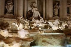 The Trevi Fountain details Italian: Fontana di Trevi in Rome, Royalty Free Stock Image