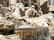 Trevi fountain. Details, one of most visited sites in Roma stock photo