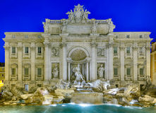 Trevi fountain details in Rome Italy Royalty Free Stock Photos