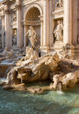 Trevi fountain details in Rome Italy Stock Image