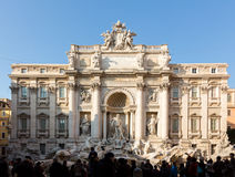 Trevi fountain details in Rome Italy Stock Photo