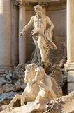 Trevi fountain details in Rome Italy Royalty Free Stock Photo