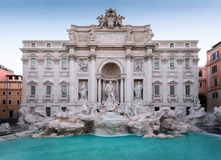 Trevi Fountain, the façade. The famous Trevi fountain seen from the front. daylight photography with natural light, long exposure to highlight the movement of stock photography