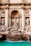 Trevi Fountain - famous landmark in Rome. Fountain di Trevi - most famous Rome's fountains in the world. Italy Stock Photography
