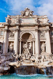 Trevi Fountain - famous landmark in Rome Stock Image