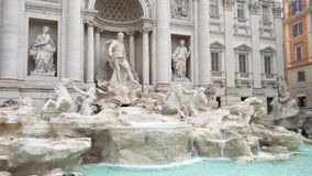 Trevi Fountain. The famous Trevi fountain in Rome Stock Photos