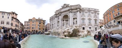 Trevi Fountain or Fontana di Trevi at Piazza Trevi, Rome royalty free stock image