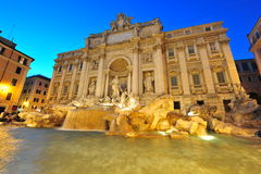 Trevi fountain (Fontana di Trevi) at night, Rome Royalty Free Stock Image