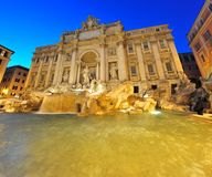Trevi fountain (Fontana di Trevi) at night, Rome Royalty Free Stock Image