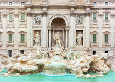Trevi Fountain, Fontana di Trevi, after the restoration of 2015 Royalty Free Stock Photo