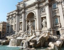Trevi fountain (Fontana di Trevi) in Rome, Italy Stock Photos