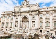 Trevi Fountain (Fontana di Trevi) in Rome Royalty Free Stock Photo