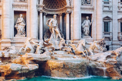 Trevi Fountain Fontana di Trevi in Rome. Italy.  Stock Photos