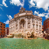 Trevi Fountain or Fontana di Trevi in Rome, Italy. Rome Trevi Fountain or Fontana di Trevi in the morning, Rome, Italy. Trevi is the largest Baroque, most famous Stock Photos