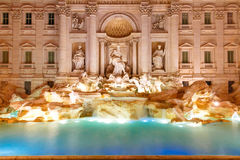 Trevi Fountain or Fontana di Trevi in Rome, Italy. Rome Trevi Fountain or Fontana di Trevi in the morning, Rome, Italy. Trevi is the largest Baroque, most famous Royalty Free Stock Photo