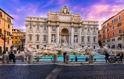 Trevi Fountain (Fontana di Trevi) in Rome, Italy Royalty Free Stock Photo