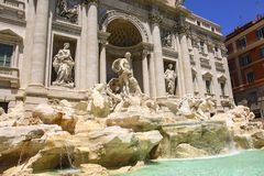 Trevi Fountain Fontana di Trevi in Rome, Italy. Europe Royalty Free Stock Images