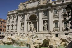 Trevi Fountain Fontana di Trevi in Rome, Italy. Trevi Fountain Fontana di Trevi on a sunny day in Rome, Italy Stock Image