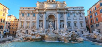 Trevi Fountain Fontana di Trevi in Rome royalty free stock images